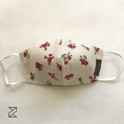 ماسک پارچه ای گل سرخی زیما استایل