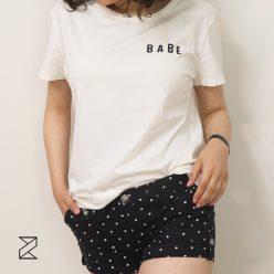 تیشرت سفید ساده زنانه