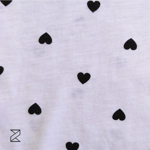 بلوز آستین بلند زنانه سفید طرح قلب، قلبی
